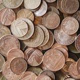 великобританские монетки Стоковое фото RF