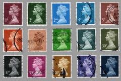 великобританские штемпеля почтоваи оплата стоковое фото