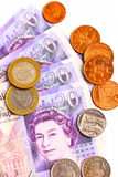 великобританские деньги Стоковая Фотография