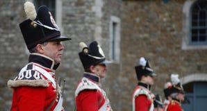 великобританские redcoats Стоковые Изображения