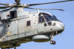 Великобританский королевский вертолет Мерлина HM2 военно-морского флота Стоковое Фото