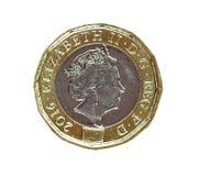 Великобританский новый один ферзь биметалла монетки фунта Стоковое Фото
