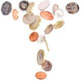 великобританский падать монеток Стоковое Изображение RF