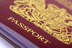 великобританский пасспорт Стоковые Изображения