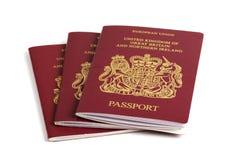 великобританский пасспорт Стоковое фото RF