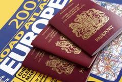 великобританский пасспорт Стоковые Фотографии RF