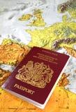 великобританский пасспорт Стоковое Фото