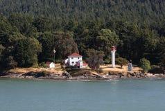 великобританский пункт mayne маяка острова c georgina стоковые фото