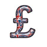 великобританский стеклянный фунт иллюстрация вектора