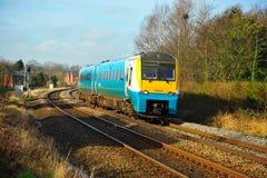 великобританский тепловозный поезд стоковое изображение rf
