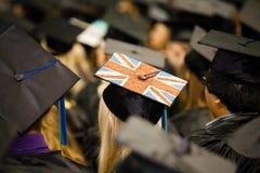 Великобританский флаг на крышке студент-выпускника Стоковое Изображение RF