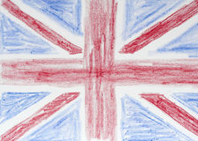 великобританский флаг чертежа Стоковые Фото