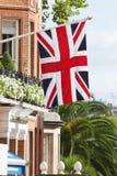 Великобританский флаг Юниона Джек на stree Лондона Стоковые Изображения RF