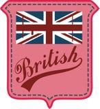 великобританский флаг Стоковое Изображение RF