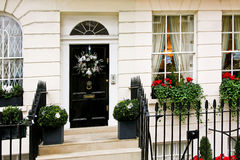 великобританский фронт двери Стоковые Изображения RF