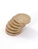 великобританский фунт Великобритания монеток стоковые изображения rf
