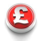 великобританский фунт иконы кнопки иллюстрация штока