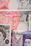 великобританский фунт макроса Стоковая Фотография RF