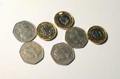 великобританский фунт монетки Стоковые Изображения RF