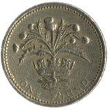 великобританский фунт монетки Стоковая Фотография
