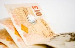 великобританский фунт 10 примечаний Стоковые Изображения RF
