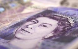 великобританский фунт 20 примечания Стоковые Фото