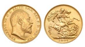 великобританский sovereign золота стоковые фото