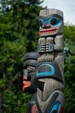 великобританский totem полюса duncan детали Канады columbia Стоковое Изображение RF