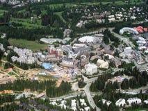 великобританский whistler села Канады columbia Стоковое Изображение RF