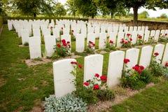 великобританское война кладбища Стоковое Изображение RF