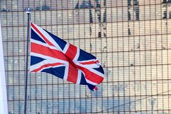 Великобританское летание юнион флага Стоковое фото RF