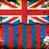 великобританское grunge флага Стоковые Изображения RF