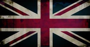 великобританское grunge флага Стоковые Фото