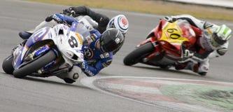 великобританское superbike mot вверх по теплому Стоковая Фотография