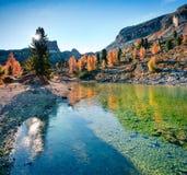 Великолепный взгляд озера Limides стоковое изображение rf