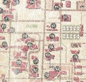 Великолепный цвет карты городка Стоковые Изображения RF