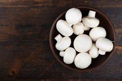 Величают champignons в плите Стоковая Фотография