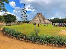 Величественные майяские руины в Chichen Itza, Мексике Стоковая Фотография RF