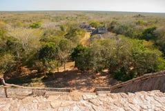 Величественные руины в Ek Balam Ek Balam археологические раскопки Майя Yucatec внутри муниципалитет Temozon, Юкатана, Мексики стоковые изображения