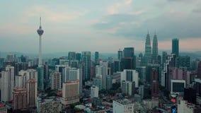 Величественный вид с воздуха горизонта города Куалаа-Лумпур видеоматериал