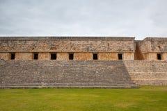 Величественный город Майя руин в Uxmal, Мексике Стоковое Изображение RF