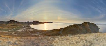 Величественный заход солнца Стоковые Изображения