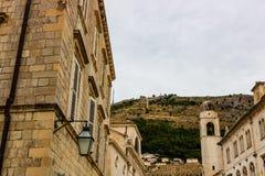 Величественный собор в старом городке Дубровнике, известное историческое и touristic назначение в Европе стоковое изображение rf