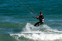 Kitesurfing Стоковая Фотография RF