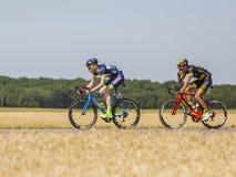 2 велосипедиста - Тур-де-Франс 2017 Стоковое Изображение