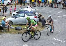2 велосипедиста - Тур-де-Франс 2015 Стоковое Изображение RF
