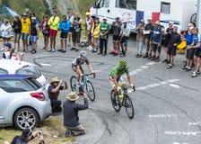 2 велосипедиста - Тур-де-Франс 2015 Стоковые Фотографии RF