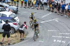 2 велосипедиста - Тур-де-Франс 2015 Стоковое Изображение