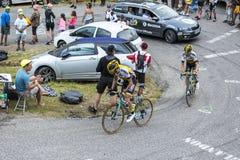 2 велосипедиста - Тур-де-Франс 2015 Стоковые Изображения RF