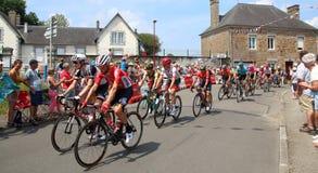 Велосипедисты 2018 Тур-де-Франс стоковое изображение